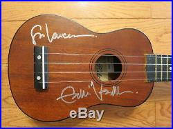 Eddie Vedder signed ukulele coa + Proof! Pearl Jam autographed in person guitar