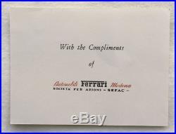Enzo Ferrari Signed Personal Letter, Ferrari Stationary, postmarked 1964