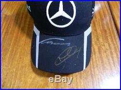 F1 Niki Lauda & Nico Rosberg Cap Hand Signed In Person By Niki Lauda & Nico