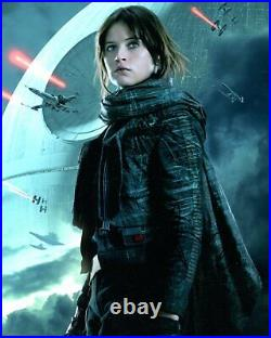 FELICITY JONES signed Autogramm 20x25cm STAR WARS In Person autograph ROGUE ONE