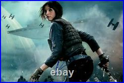 FELICITY JONES signed Autogramm 20x30cm STAR WARS In Person autograph ROGUE ONE