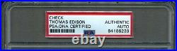 Feb 1921 Thomas Edison Hand Signed Personal Check Promissory Note Auto Psa/dna
