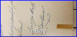 GENE VINCENT. VINTAGE IN PERSON HAND SIGNED and note Capitol Records