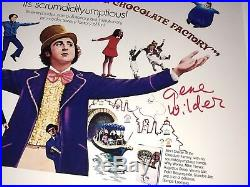 GENE WILDER Willy Wonka Signed 11x14 Photo JSA COA In Person Autograph