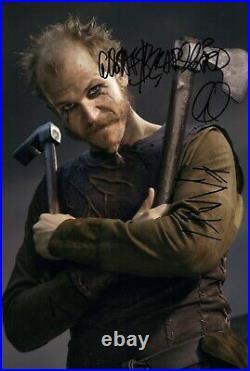 GUSTAF SKARSGARD signed Autogramm 20x30cm VIKINGS in Person autograph COA FLOKI