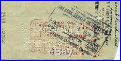 Gary Cooper Vintage Signed Personal Check 1939 Authentic Autograph Rare