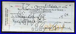 George Gershwin Signed Personal Check American Composer Pianist 1935 Ira