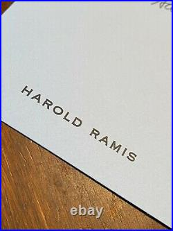 HAROLD RAMIS hand-written signed note on personal stationery mentions VACATION