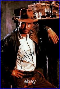 HARRISON FORD signed Autogramm 20x30cm INDIANA JONES In Person autograph COA