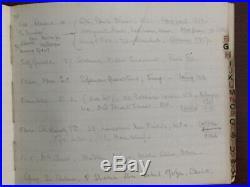 Howard Carter Signed Personal Address Book, Egyptologist, Tutankhamun