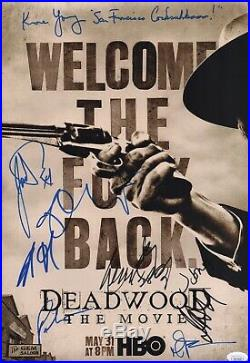 Ian McShane DEADWOOD Cast X9 Signed 12x18 Photo IN PERSON Autograph JSA COA