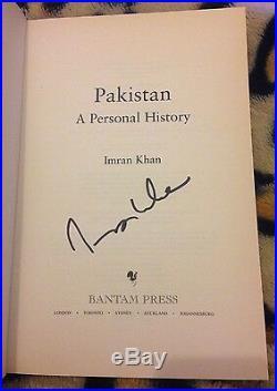 Imran Khan Signed A Personal History H/b Book Sport Autograph Cricket Politics