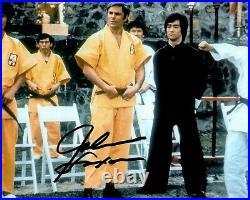 JOHN SAXON signed Autogramm 20x25cm ENTER THE DRAGON in Person autograph COA LEE