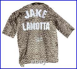 Jake LaMotta Signed Auto Personal Model Boxing Robe Raging Bull JSA