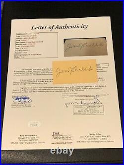 James Braddock Personal Business Card Signed JSA LOA Autographed Boxing Champion