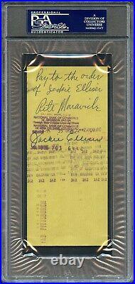 Jan 1975 Pistol Pete Maravich Bank Dual Signed Personal Check Psa/dna Auto Rare