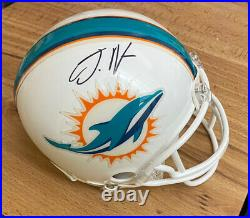 Jaylen waddle signed miami dolphins mini helmet in person autograph withCOA