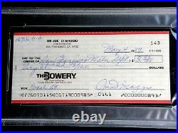 Joe Dimaggio Psa/dna Certified Signed 1989 Personal Check Autographed Auto Hof