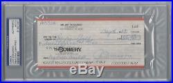 Joe Dimaggio Psa/dna Certified Signed Personal Check Autograph Rare! #81997581
