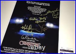 John Carpenter CHRISTINE Cast X5 Signed 12x18 Photo IN PERSON Autograph JSA COA