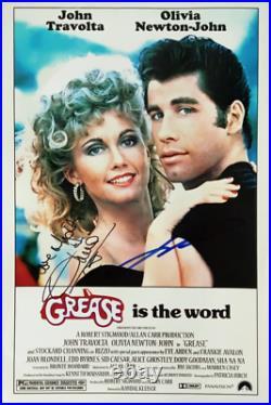 John Travolta & Olivia Newton John signed GREASE 11x14 photo in person