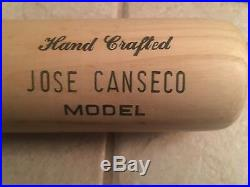 Jose Canseco Game Personal Model Autographed Signed Worth Bat