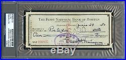 June 1950 Cuba Ernest Hemingway Signed Personal Check Nobel Auto Psa/dna Rare