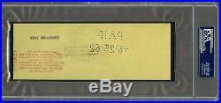June 1962 Walt Disney Signed Irs Tax Personal Bank Check Psa/dna Auto Rare