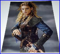 KATHERYN WINNICK In-Person Signed 11x14 Vikings Lagertha Sexy Blonde Photo /COA