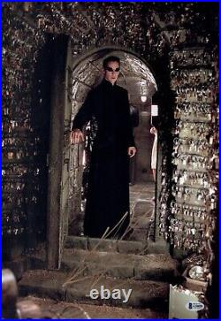 KEANU REEVES Signed Neo MATRIX 12x18 Photo IN PERSON Autograph BAS COA