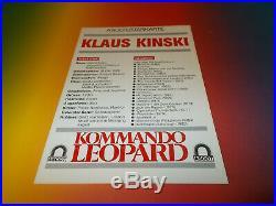 Klaus Kinski signed signiert autograph Autogramm auf Autogrammkarte in person