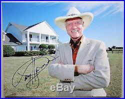LARRY HAGMAN SIGNED AUTOGRAPH 11x14 PHOTO DALLAS PROMO IN PERSON RARE LEGEND NY1