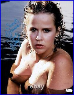 LINDA BLAIR Signed PLAYBOY 11x14 Photo THE EXORCIST In Person Autograph JSA COA