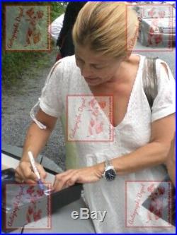 LINDA HAMILTON & MICHAEL BIEHN signed TERMINATOR photo REAL/IN-PERSON/PIC PROOF