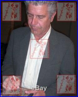 Legendary Chef ANTHONY BOURDAIN signed SIMPSONS photo RARE/IN-PERSON/PIC PROOF
