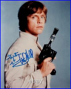 MARK HAMILL signed Autogramm 20x25cm STAR WARS In Person autograph COA SKYWALKER