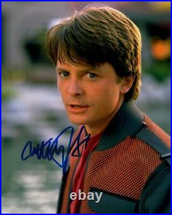 MICHAEL J FOX signed Autogramm 20x25cm BACK TO THE FUTURE In Person autograph