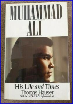 MUHAMMAD ALI His Life Times Book Plate Signed by Muhammad Ali Hardcover Book