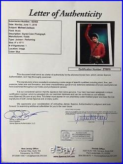 Michael Jackson In-Person Signed 8x10 Autographed Concert Photo JSA Z70819