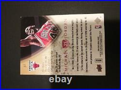 Michael Jordan Signed Autographed Upper deck Card Legacy In Person