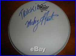 Mickey Hart Signed Drumhead Proof! Autographed In Person Grateful Dead Coa