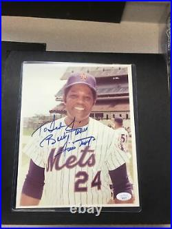 NEW YORK METS Willie Mays Auto Signed Autograph JSA CERTIFIED PERSONALIZED RARE