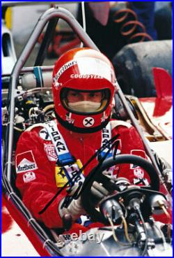 Niki Lauda F1 autograph, In-Person Signed 8X12 inches 1975 UK F1 Ferrari photo