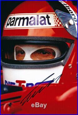 Niki Lauda autograph, In-Person signed 8X12 inches 1979 Brabham F1 photo