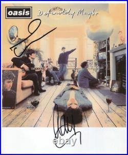Noel & Liam Gallagher Oasis Signed 8 x 10 Photo Genuine In Person + COA