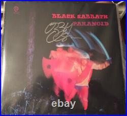 OZZY OSBOURNE signed Paranoid ALBUM LP vinyl AUTOGRAPH IN PERSON Black Sabbath