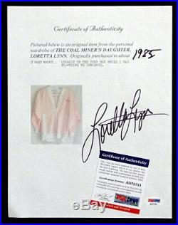 Original LORETTA LYNN Signed PERSONAL JACKET with LL AUTOGRAPH & PSA/DNA COA