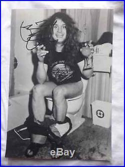Ozzy Osbourne Signed Autographed 8x12 Photo IN PERSON Black Sabbath RARE