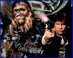 PETER MAYHEW signed Autogramm 20x25cm STAR WARS In Person autograph COA CHEWIE