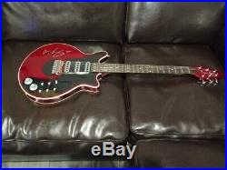 Queen Brian May In Person Autographed Signed Bmg Electric Guitar Antique Cherry